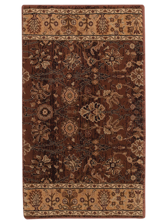 """Satin Topaz runner roll rug in Earth - The crisp, traditional designs, fashion forward colorations and extra tight packed pile (1/2"""" thick) will wear like iron and give years and years of superior service."""