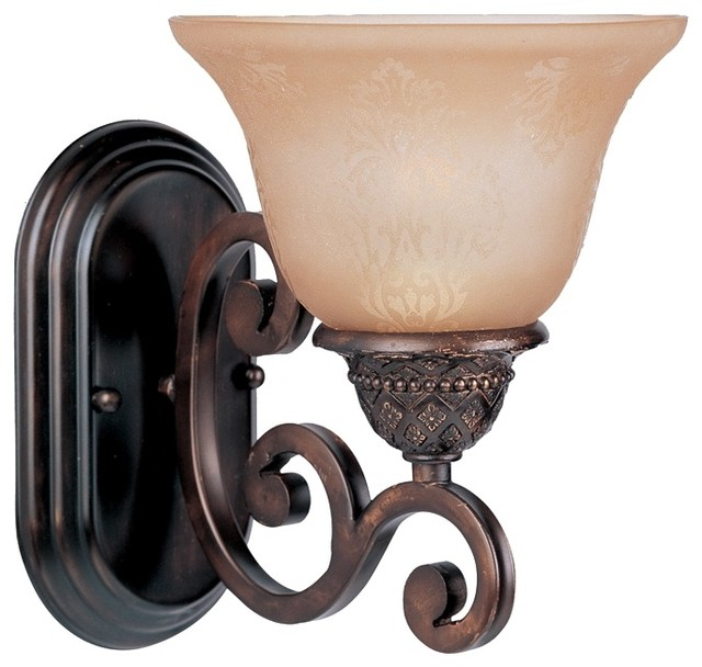 Rubbed Bronze Wall Sconces : Symphony Oil Rubbed Bronze Finish Wall Sconce - Traditional - Wall Lighting