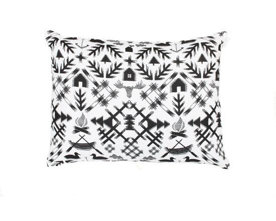 Villi Pohjola Pillow Case, White/Black -