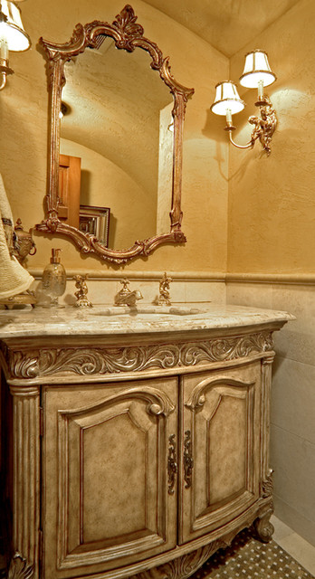 Sammamish Tuscan Estate mediterranean-powder-room