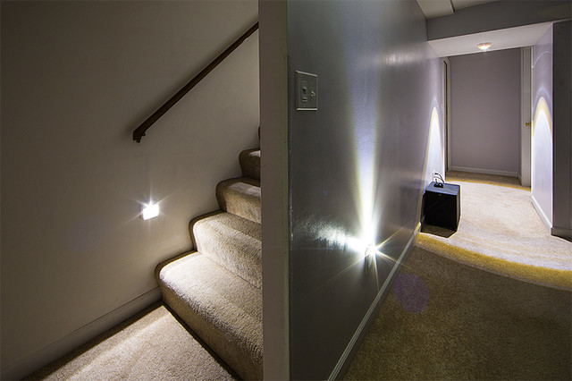 LED Staircase and Basement Lighting - Power Outage Starter Kit - Basement - st louis - by Super ...