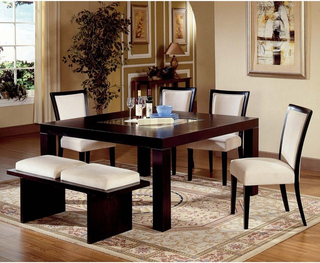 Steve Silver Movado 6-Piece Dining Table Set with Bench