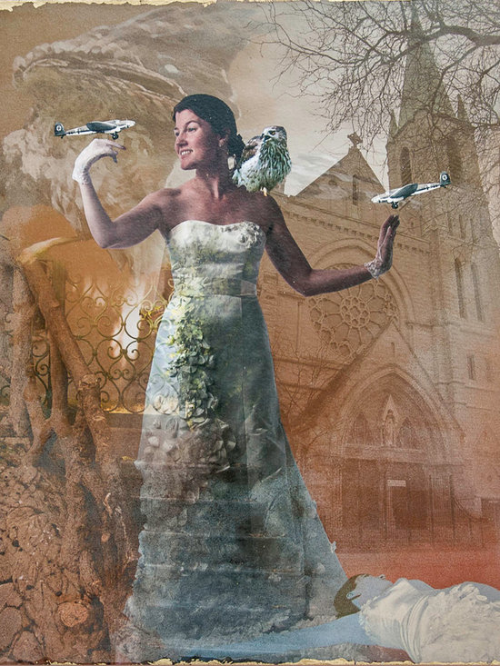 When You Wish - A reference to the animated Cinderella fairy tale, this photomontage references how Church and 1950's conventions worked against young girls' independence and psyche.