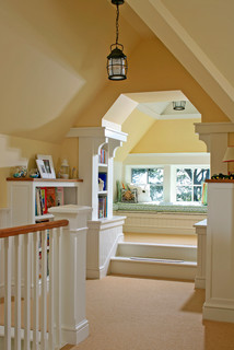 attic built-ins might include a window seat