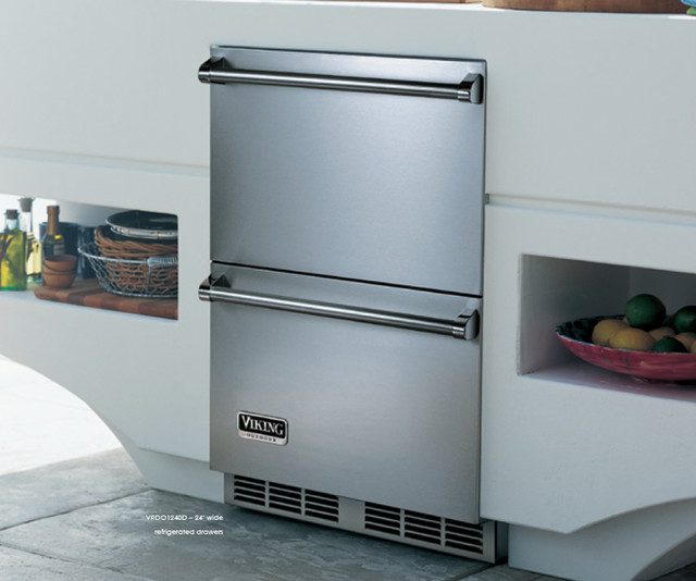 "Viking VRDO1240DSS 24"" Outdoor Double Drawer Refrigerator - Outdoor Refrigerators - new york ..."