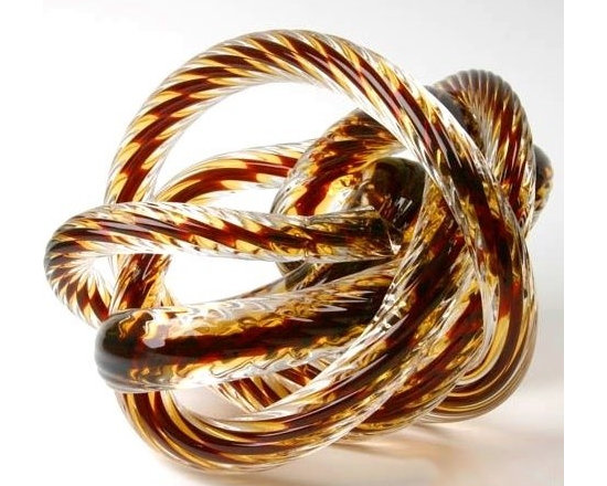 Large Glass Rope Knot/Burgundy -