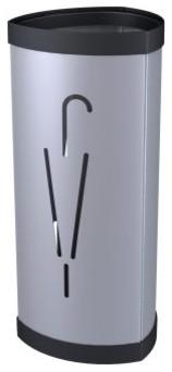 ALBA Triangular Umbrella Stand - Metallic Grey modern-coat-stands-and-umbrella-stands
