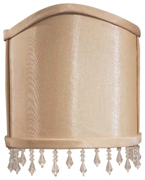 Wall Sconces With Lamp Shades : Traditional Silk Wall Sconce Half Shade 3x5.25x6.5 (Clip-On) - Traditional - Lamp Shades - by ...