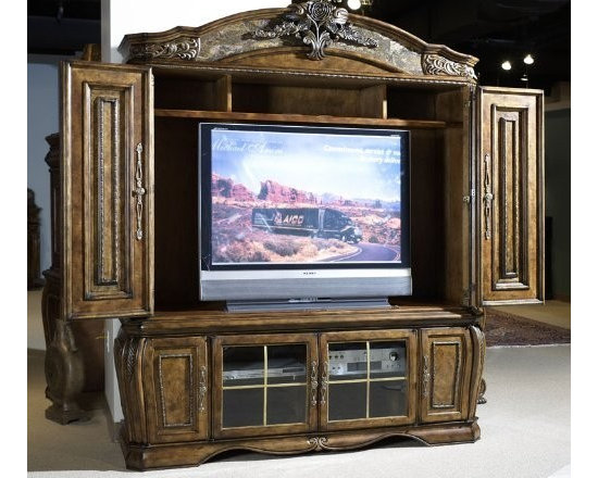 AICO Furniture - Oppulente Entertainment Unit With Doors - 67095-52 - Manufactured by Aico Furniture