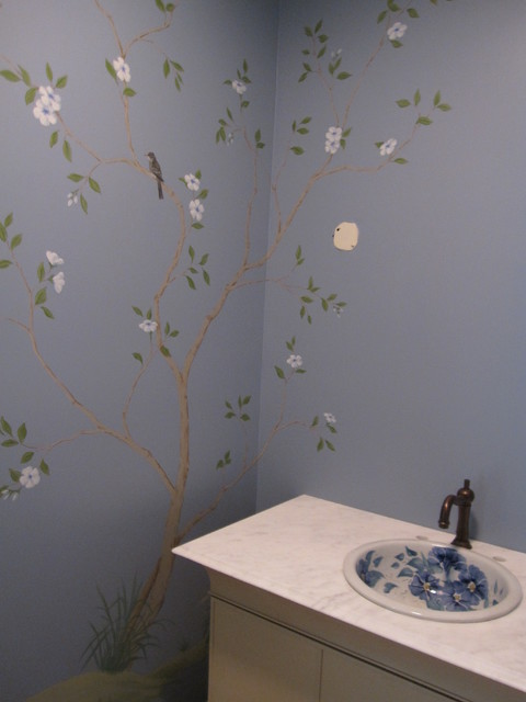 Decorative Finishes and Murals traditional-bathroom