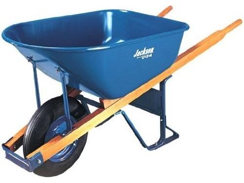 Jackson M6T22 6 Cubic Steel Tray Contractor Wheelbarrow gardening-tools