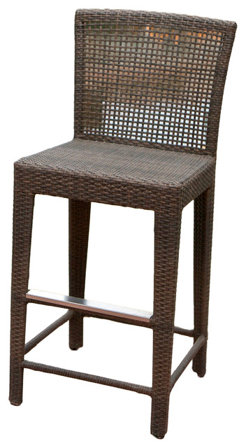 Arizona Outdoor Wicker Bar Stool Tropical Outdoor Bar Stools And Counter Stools By Great