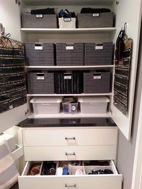 Organizing Our Stuff contemporary-closet
