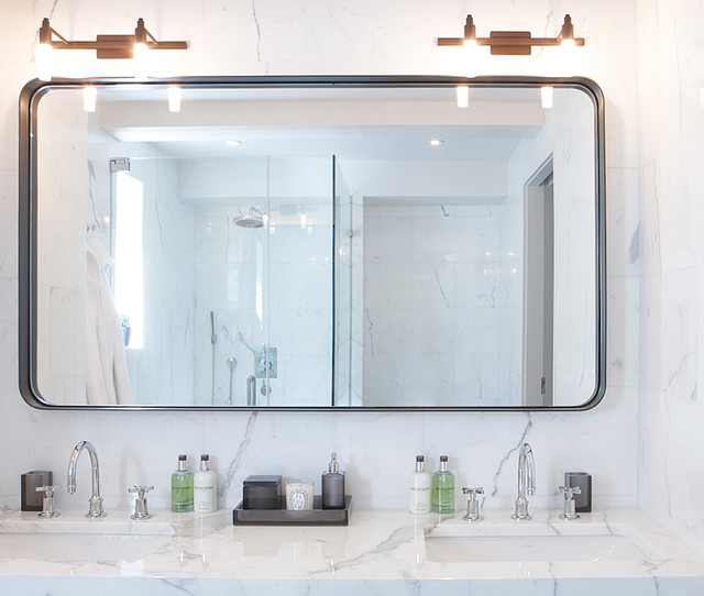 Custom made bathroom mirror modern bathroom mirrors for Custom made mirrors for bathrooms