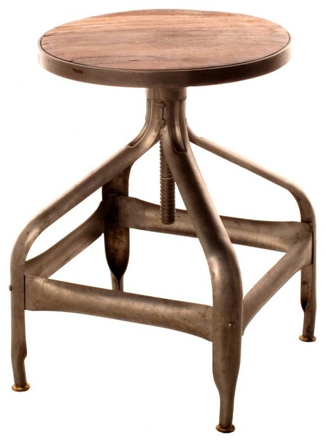 Draftsman Swivel Stool eclectic-living-room-chairs