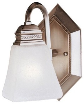 Kichler Polygon Bathroom Sconce - 6W in. Antique Pewter modern wall sconces