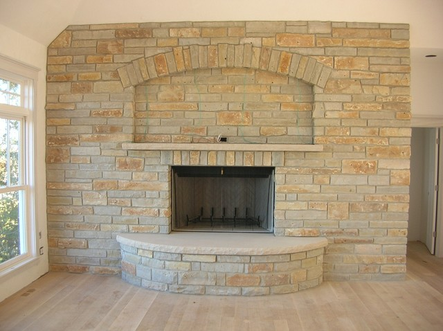 Limestone fireplace traditional family room other metro by the quarry mill natural stone - Types veneers used home furniture ...
