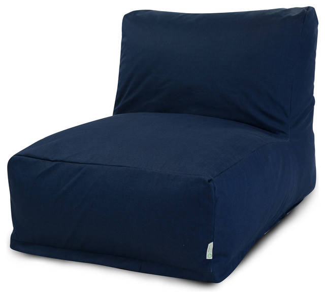 Outdoor Navy Blue Solid Bean Bag Chair Lounger Contemporary Bean Bag Chai