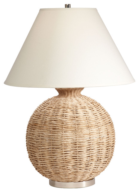 Seagrass Table Lamp Traditional Table Lamps By Ethan