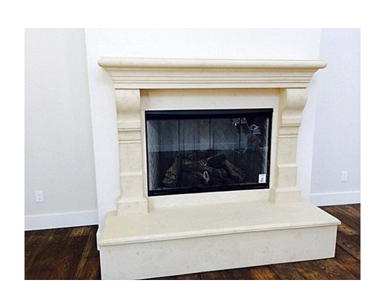 Tuscanny Cast Stone Fireplace Mantel -