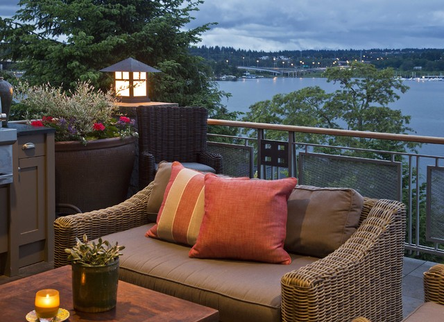 Mercer Island Waterfront Estate traditional-patio