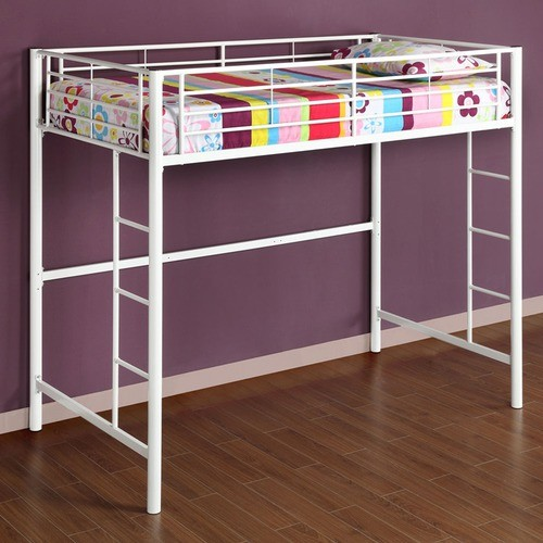 Twin loft bed with built in ladder modern loft beds