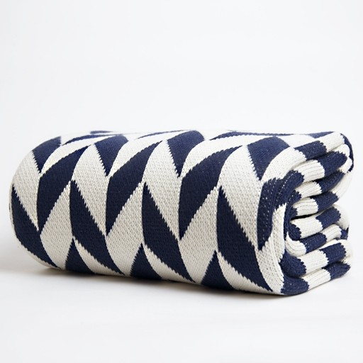 Chevron Throw modern throws