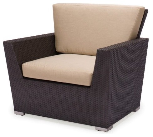Caluco Maxime All-Weather Wicker Club Chair contemporary outdoor chairs