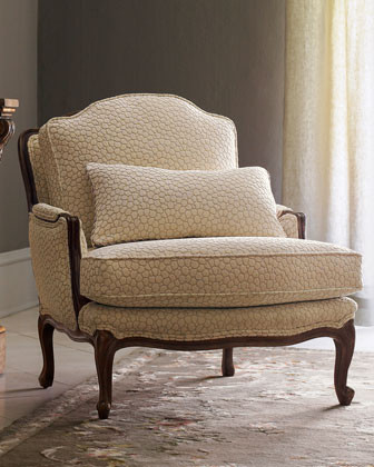 "Massoud - ""Bespeckled Bergere"" Chair traditional-accent-chairs"