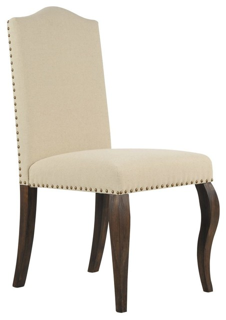 Diego upholstered side chair traditional dining chairs for Printed upholstered dining chairs