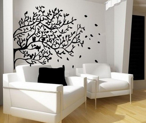 Tree Wall Sticker To Decor Living Room Wall Modern