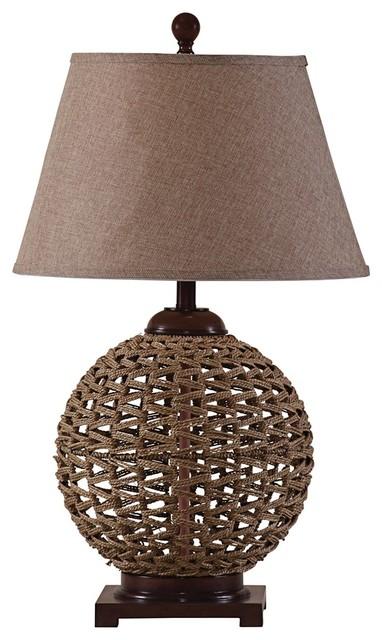 coastal bali hai woven rattan table lamp beach style