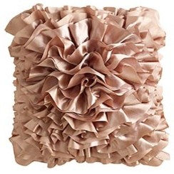 Blush Ruffle Pillow contemporary pillows