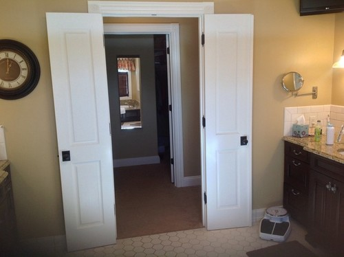 Narrow french doors into master bedroom for Narrow double french doors