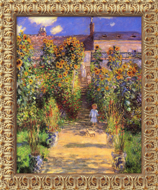 The Artist's Garden at Vetheuil, 1880 by Claude Monet traditional-prints-and-posters