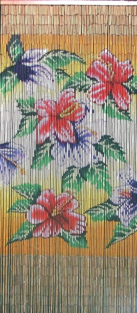 Bamboo Tropical Flowers Scene - Tropical - Curtains - by Beyond Stores