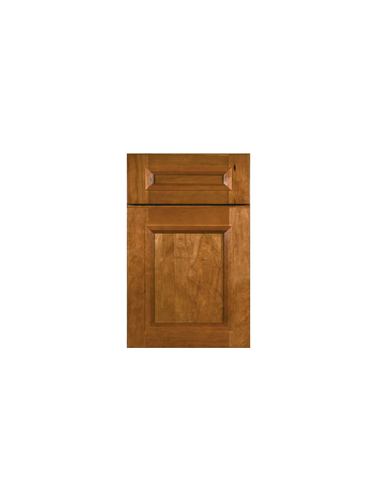 Cherry Door Styles from Wellborn Cabinet, Inc. - Modesto Cherry's clean lines accompanied by a simple classy moulding complement contemporary and casual looks with its simple style and 5-piece drawer front.