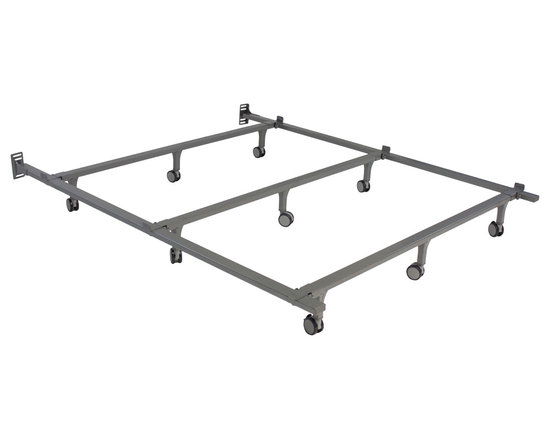 Hollywood - Envision King-size Bed Frame - This king-size extra heavy-duty bed frame from Envision is the perfect base for any bed,strong enough to support a mattress,box spring and all bedding. This base is made of heavy-duty tubular steel with oversized side rails for additional support.
