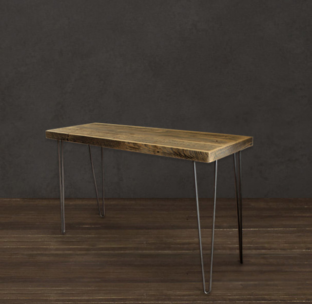 Reclaimed Wood Raw Tall Console Table modern-buffets-and-sideboards