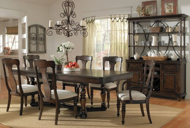 pulaski furniture saddle ridge rectangular dining room
