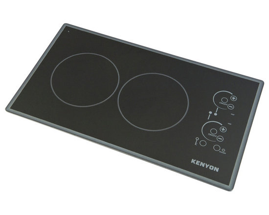 """Kenyon - Lite Touch Q Cortez 2 Burner, 120V UL - Modernize any kitchen and compliment high end appliances with our Lite-Touch Q® Cortez Series Cooktop. Steel colored graphics provide a sleek and polished look. Precision and simplicity are at the tip of your fingers. Just touch the digital ON/OFF circle to activate the heating elements and set the cooking temperature. Landscape orientation. (2) 1200 W 6.5"""" burners. UL approved."""