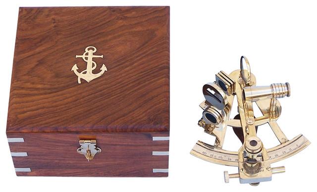 """Scout's Brass Sextant 4"""" Antique Sextant Navigation Sextant Nautical Decoration home-decor"""