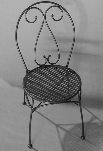 Alfresco Home Parisian Wrought Iron Bistro Chair with Cushion - Set of 2 contemporary-outdoor-lounge-chairs