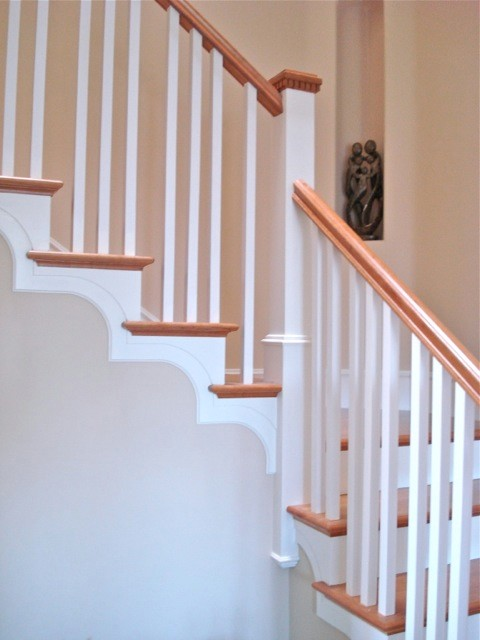 Traditional Stair With Tread Brackets Traditional