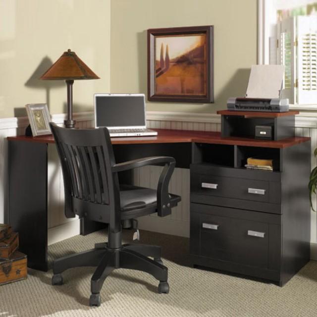 bush wheaton corner computer desk modern desks and hutches by
