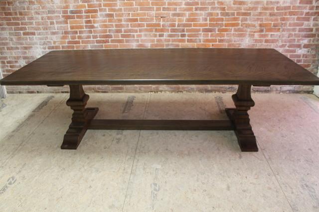 Antique Walnut Venetian Trestle Table craftsman-dining-tables
