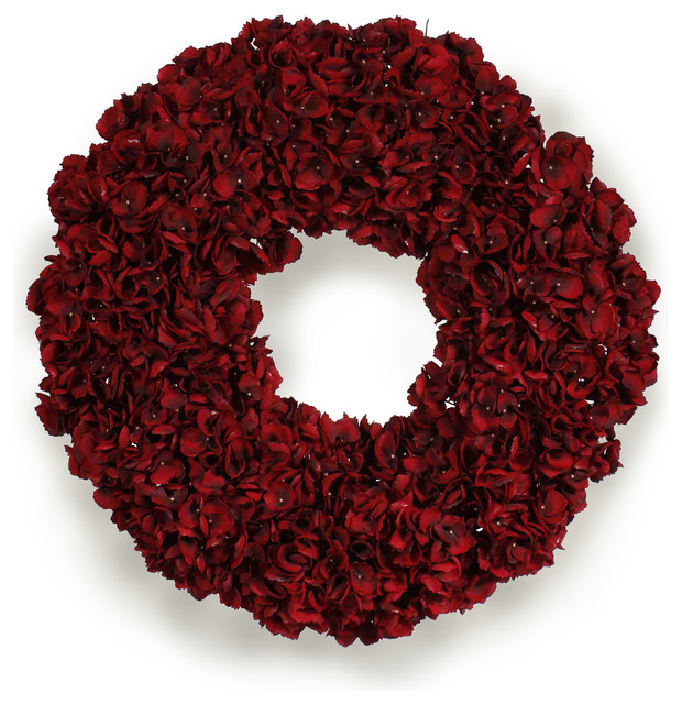 Hydrangea Holiday Wreath traditional-wreaths-and-garlands