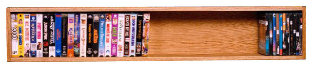 Solid Oak Wall or Shelf Mount DVD/VHS tape/Book Cabinet ...
