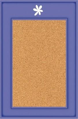Parsons cork board with custom accents modern bulletin for Modern cork board