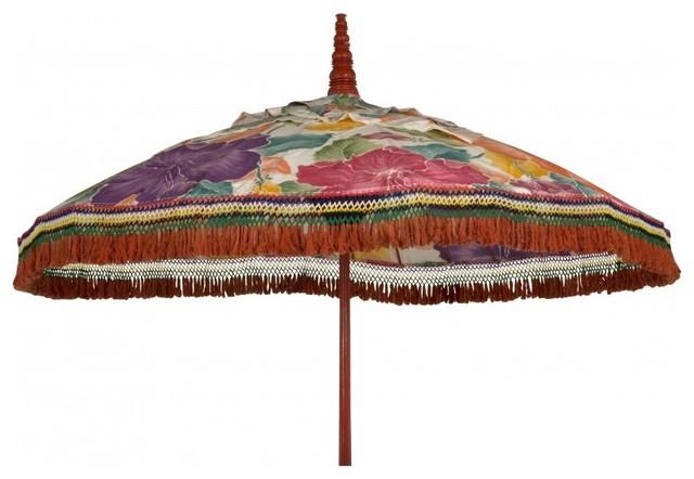 vintage flowered umbrella eclectic outdoor umbrellas